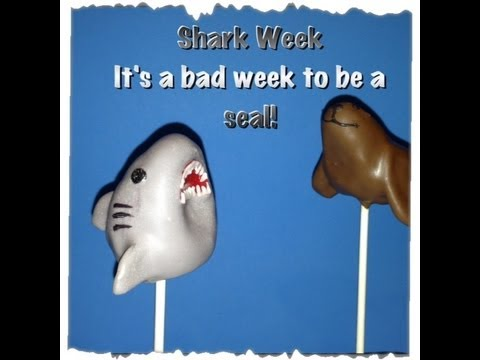 How to make a Shark Cake Pop! In honor of Shark Week. It's a bad week to be a Seal
