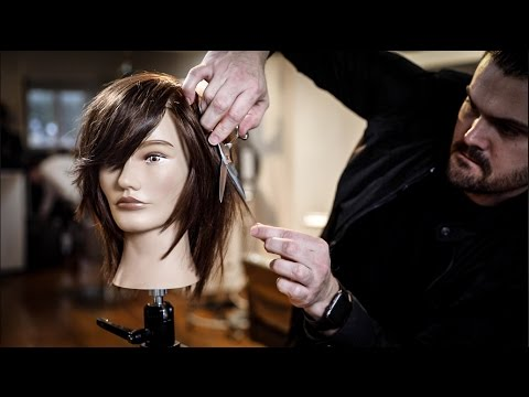 Medium Length Haircut Tutorial - Shag Haircut  with Side Bangs | MATT BECK VLOG 93