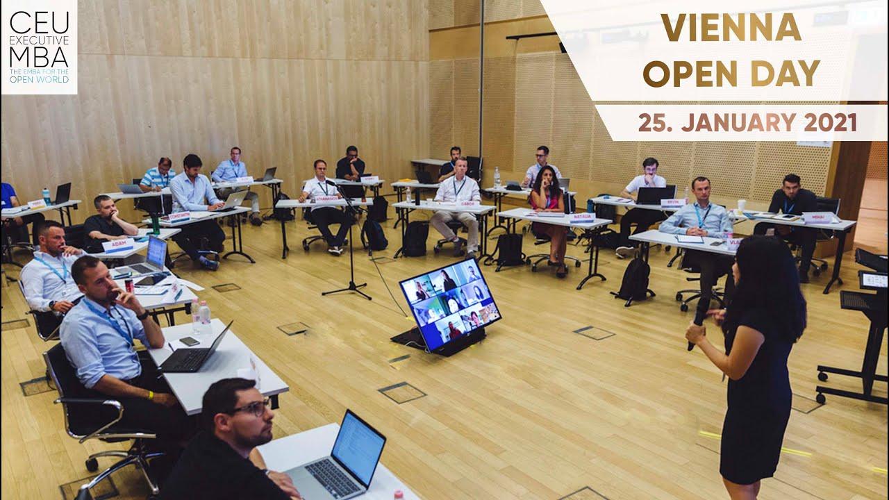 CEU Executive MBA: Vienna Open Day – 25 January, 2021