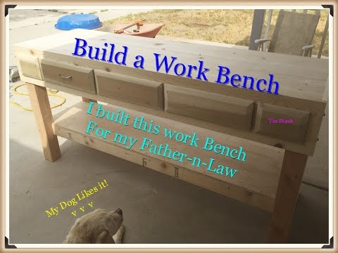 How to Built a Work Bench with drawers