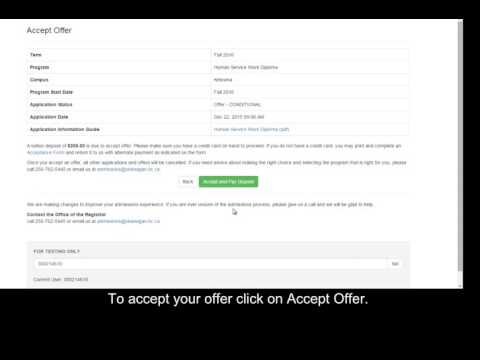 How-to accept or decline your offer online