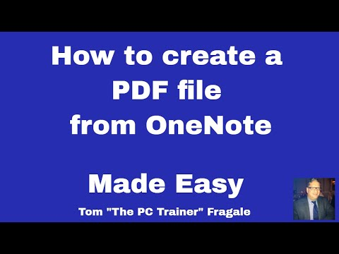 Creating a PDF file from OneNote - How to create a PDF file from OneNote