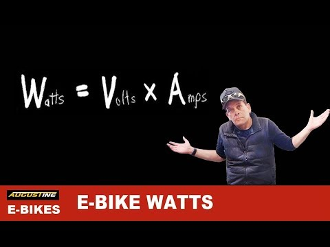 Your E-Bike's Watts and your Motor's Performance