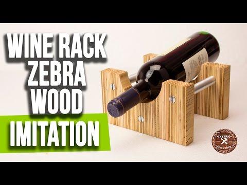 How to build a Wine Rack | Zebrano Wood Imitation | DIY | Interio Workshop