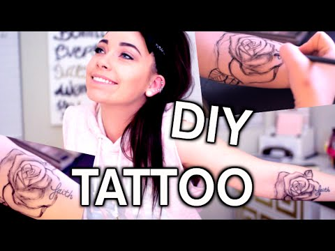 DIY TATTOO: How To Fake a Tattoo with Makeup
