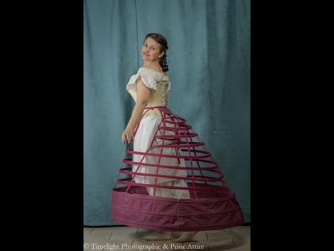 Making an elliptical crinoline timelapse