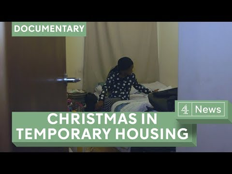 Homeless at Christmas - family life in temporary housing