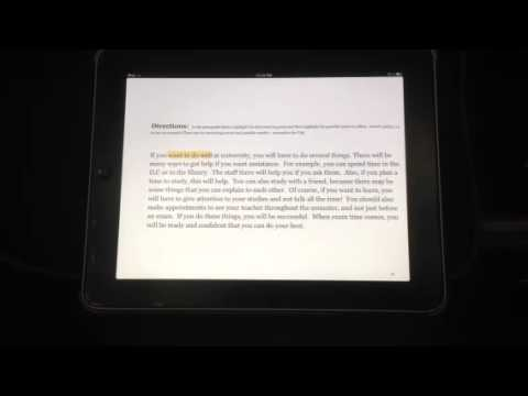 How to highlight on the iPad