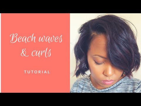 HEALTHY RELAXED HAIRCARE: BEACH WAVES AND CURLS WITH A FLAT IRON / STRAIGHTENERS