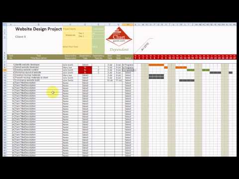 Chart Gantt Excel Template Demonstration