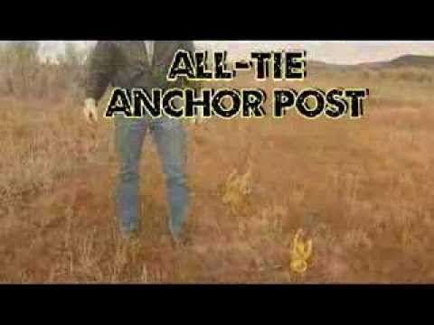 ALL-TIE Anchor Post with 4 wheeler - Discover dog tie out - by Good N Useful