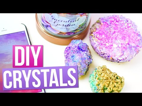 DIY CRYSTALS using SALT! ♥ Tumblr Room Decorations