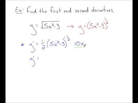 Calculus - Second Derivatives
