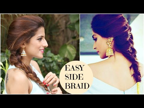 Sonam Kapoor's EASY Side Twist Hairstyle | Celebrity Hairstyles | Indian Hairstyles for medium hair