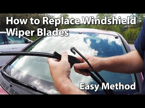 How to Change Windshield Wiper Blades on a Car