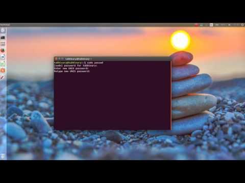 Change Password Super User Linux Ubuntu