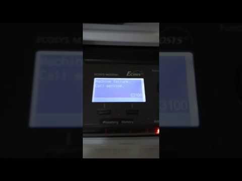C3100 error on Kyocera  MFP printers