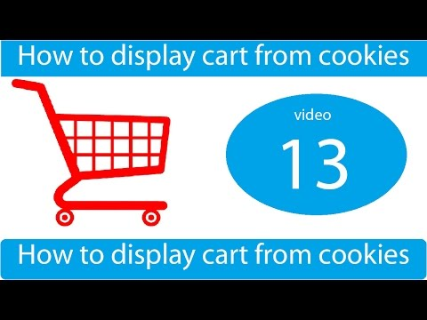 how to display shopping cart in php