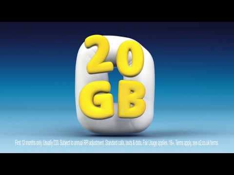 O2 Sim Only - 20GB for £20 - TV Advert