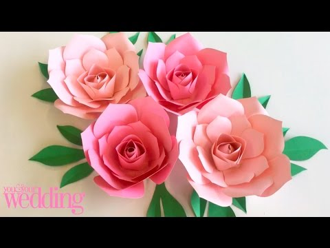 DIY BRIDE: How to make a large paper flowers for an impressive flower wall | Wedding Craft