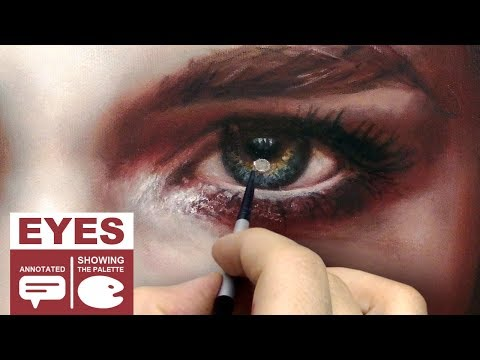 OIL PAINTING PORTRAIT DEMO ✦ REALISTIC ART VIDEO ✦  expressive eye / look by Isabelle Richard