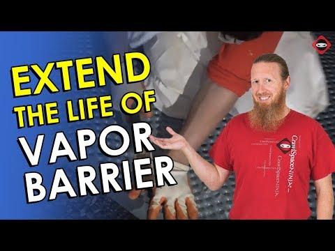 Crawl Space Plastic Vapor Barrier Underlayment | Make Crawl Space Plastic Strong | Moisture Barrier