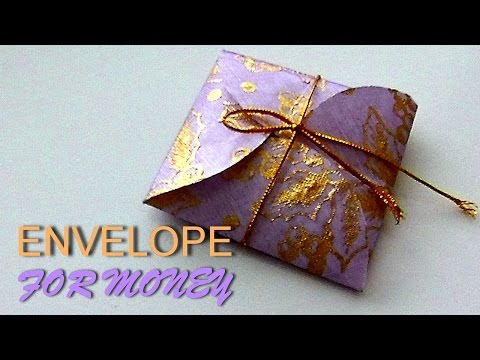 How to make Origami Envelope for Money. Crafts Paper.  Tutorial for Beginners. Simply and easily