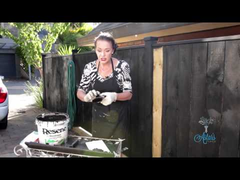 Painting Tutorial: How to Stain a Fence