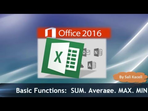 Excel 2016 Basics: SUM, MIN, AVERAGE, COUNT etc. - Excel Made Easy