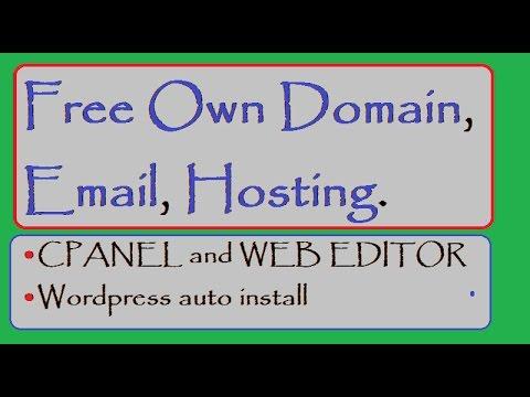 free domain, hosting, website, email, NO Ads, make free website