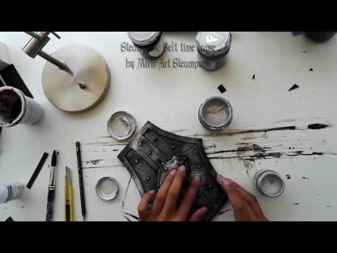 How to make a Steampunk belt - time lapse