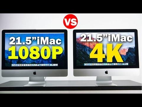 21.5-Inch iMac With Retina 4K Display vs 21.5-Inch iMac With 1080P Display