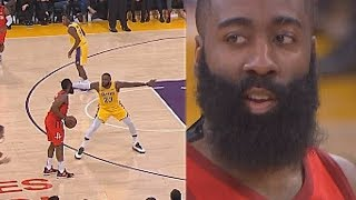 Download James Harden Shows LeBron James No Fear One-on-One & Uses His Unstoppable Step Back Move! Video