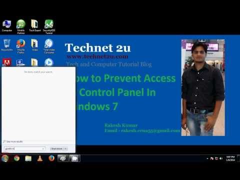 How to Prevent Access to Control Panel in Windows 7