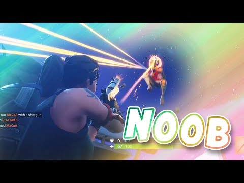 NOOB shoots guy in AIR | Fortnite Battle Royale