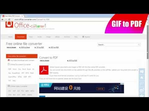 How to Convert GIF to PDF