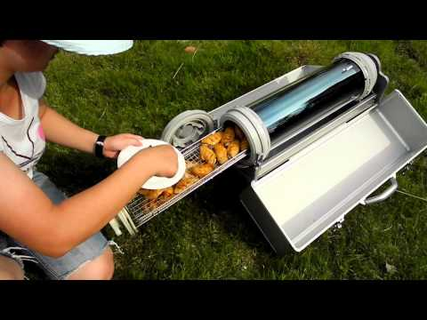 Solar BBQ Grill For slow cooking without electricity, fire or gas