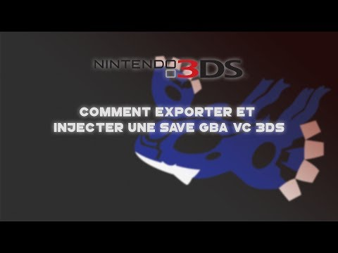 Comment exporter et injecter une save GBA VC 3DS