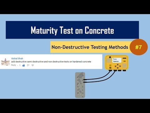Maturity Test on Concrete || Non-Destructive Testing Methods (NDT) #7