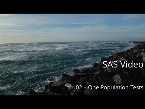 SAS 02: One-Population Procedures