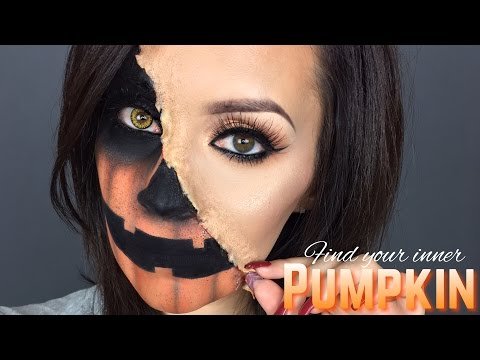 Pumpkin face halloween tutorial l GIVEAWAY with Sally Beauty 2016