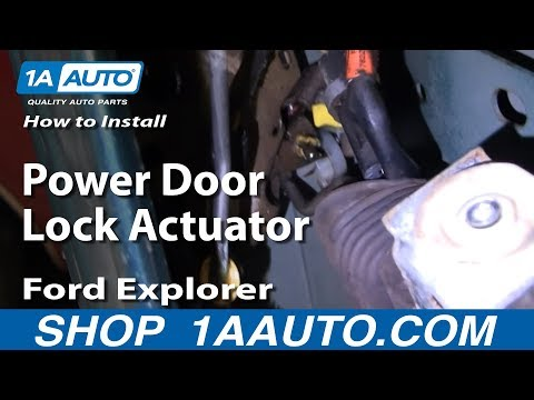 How To Install Replace Power Door Lock Actuator Ford Explorer Lincoln Mercury 88-03 1AAuto.com