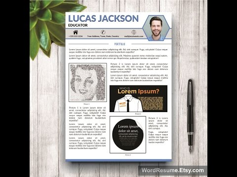 CV Design With Portfolio & Cover Letter - Word Template