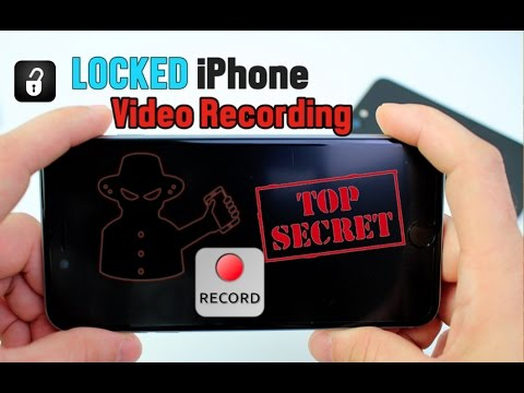 How to Record Video While iPhone is Locked No JAILBREAK iOS 10 - 10.3 (Glitch) UPDATE !