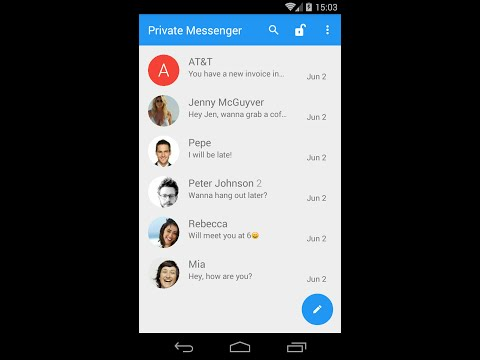 Private Messenger - Android app to block or hide text messages