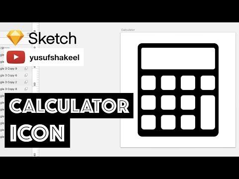 CALCULATOR icon - Sketch - dyIcons - E02 - Yusuf Shakeel