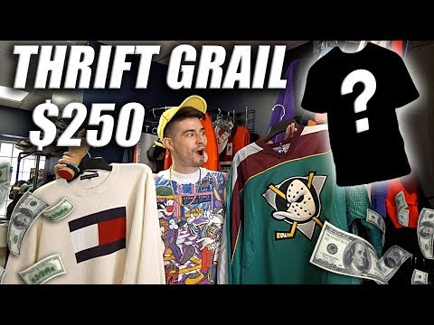 I DROPPED $250 ON A VINTAGE GRAIL! Worf it thoo | Thrift Outfit Challenge