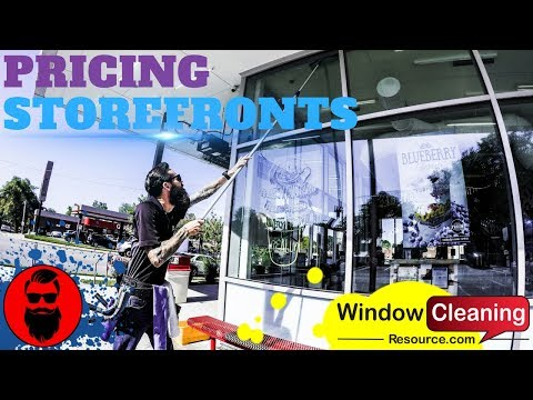 How To Price Storefronts Window Cleaning Tips