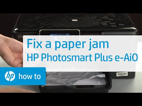 Fixing a Paper Jam - HP Photosmart Plus e-All-in-One Printer (B210a)
