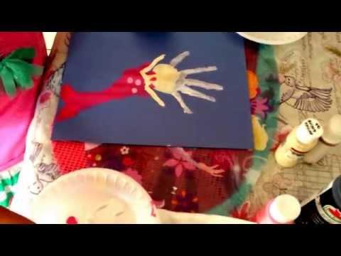 Summer Craft- Handprint/Footprint Mermaid